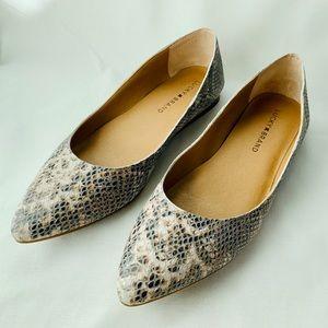 Lucky Brand Bylando Flat, Snakeskin Leather